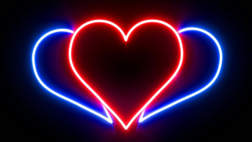 Broken Heart Neon Sign Animating