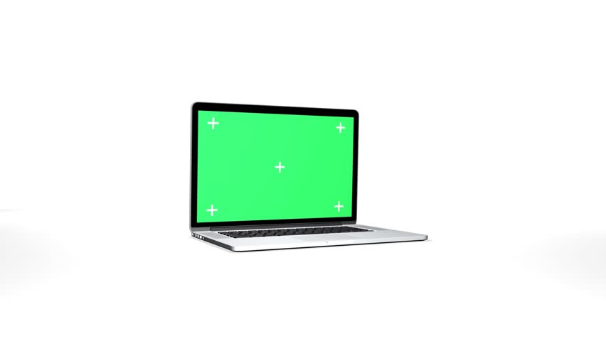 Notebook with track Green screen
