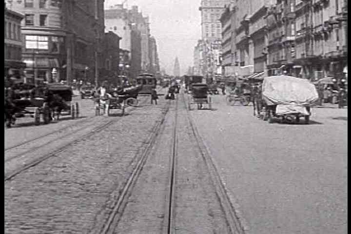 1900s - A trip down Market Street in San Francisco in 1905 just prior to the great earthquake.