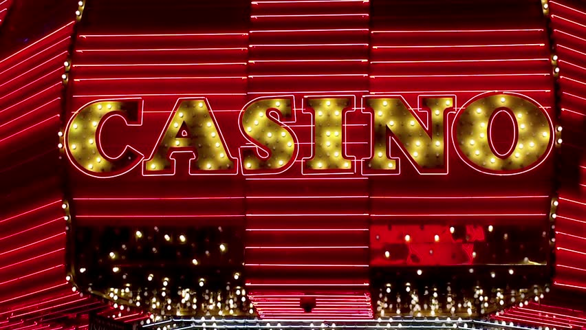 "Illuminated sign ""CASINO"""