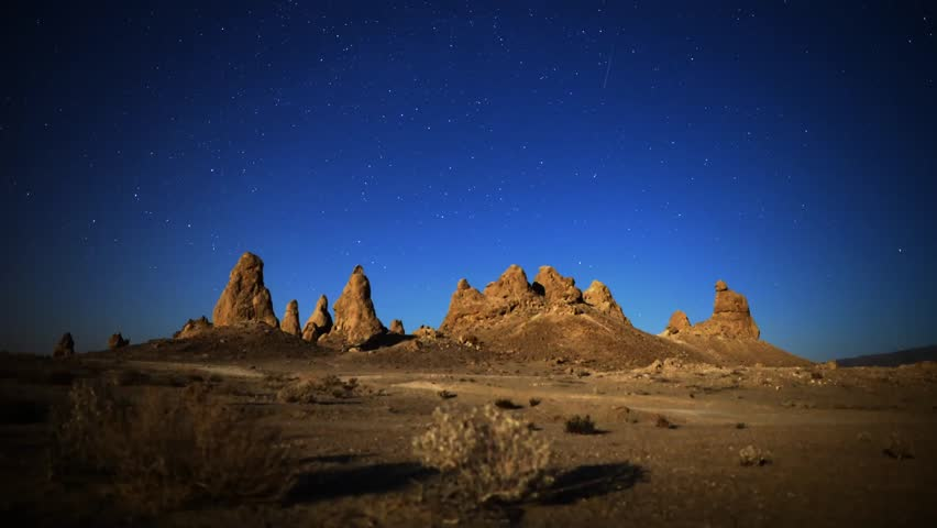 Astrophotography Time Lapse Pinnacles Moonset