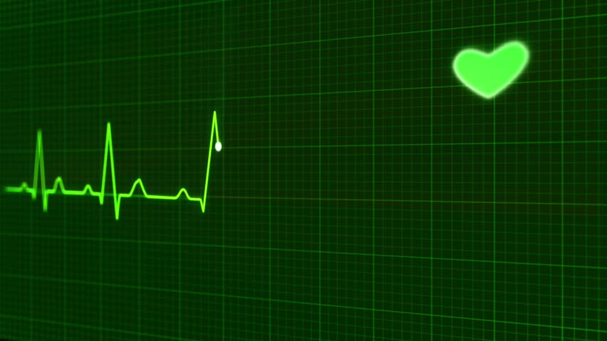 animation graphics ECG heart