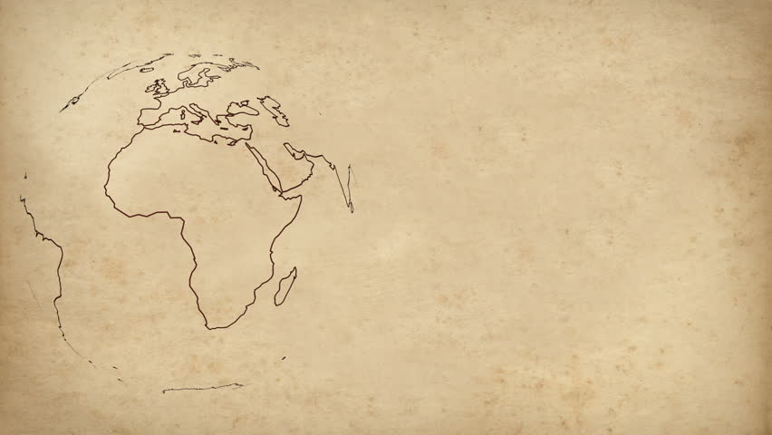 Animated Old Globe Spinning With Coordinates Appearing In The - Us map redrawn background