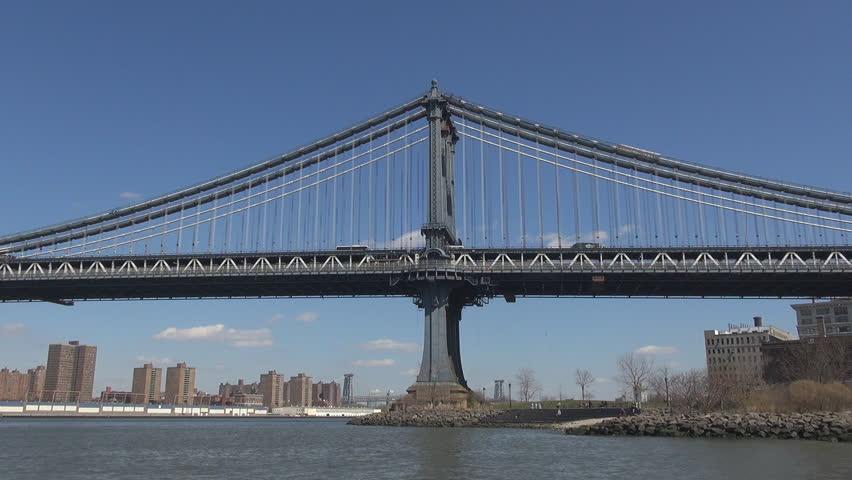 NEW YORK, APRIL 21, 2013, Manhattan bridge by day New York #3995377