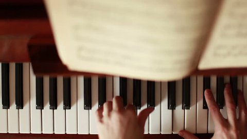Piano, hands pianist playing music
