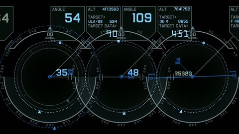 tech computer software panel,Radar GPS navigation screen display.