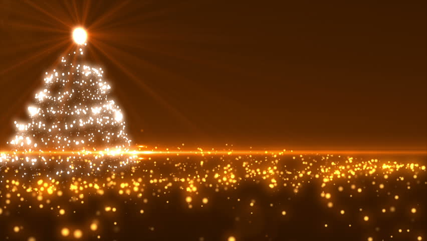 Gold Christmas Tree Background Loopable Stock Footage Video 100 Royalty Free 4030810 Shutterstock