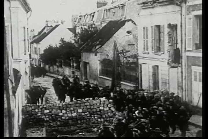 1910s - WWI battlefield footage from the Third Battle of the Aisne near Chateau-Thierry, France, on the Marne River May 27 - June 5, 1918 - SD stock footage clip