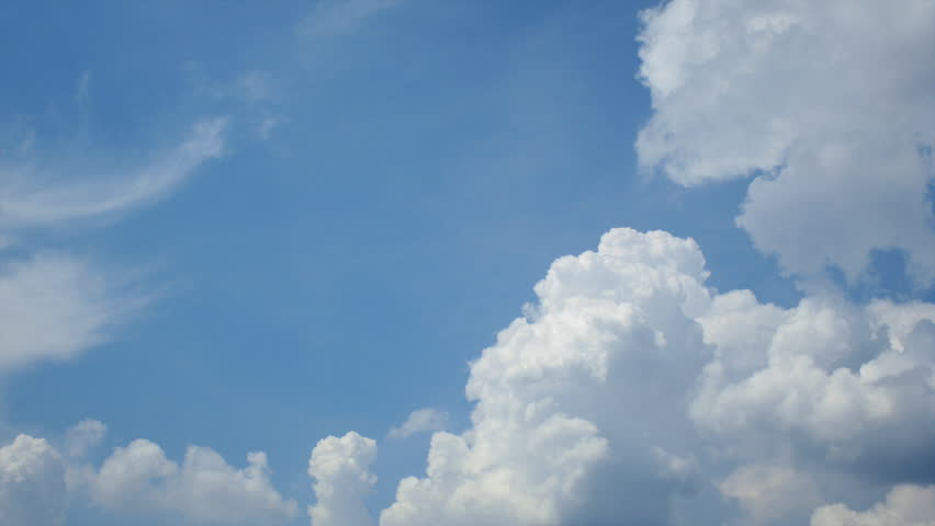 Beautiful white clouds, blue sky, time lapse video | Shutterstock HD Video #4047100