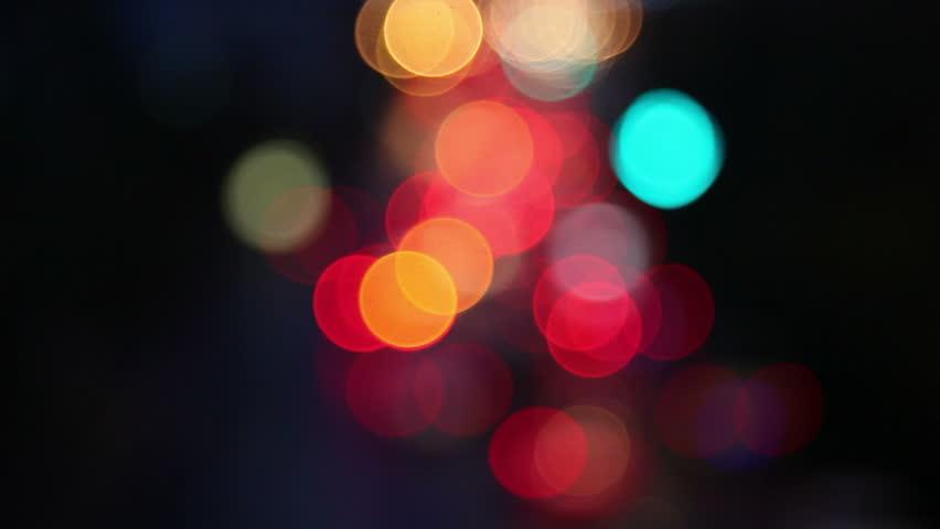 Defocused night traffic lights-Bangkok | Shutterstock HD Video #4073818
