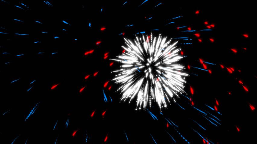 Animated fireworks for celebrations.