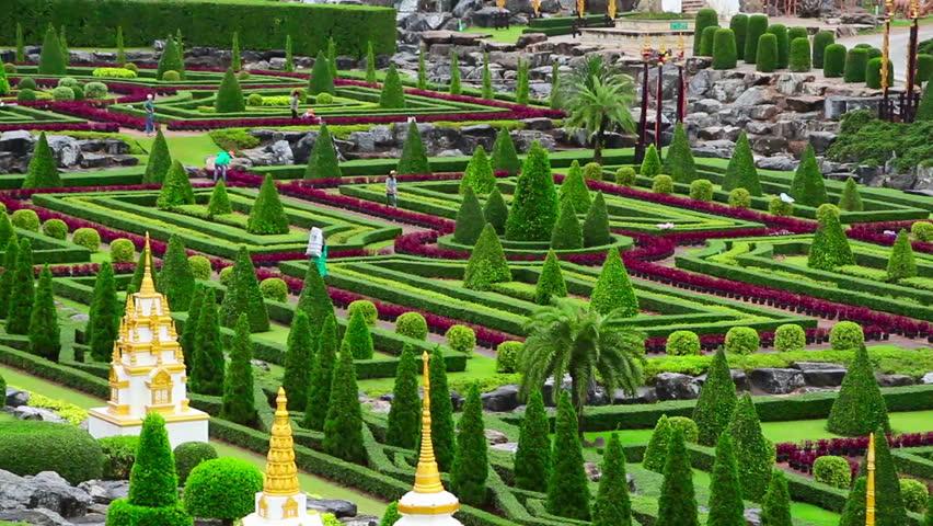 Nong Nooch tropical botanical garden in Thailand