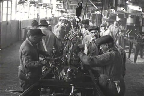 1920s - The great factory assembly lines of the American industrial age, 1926.