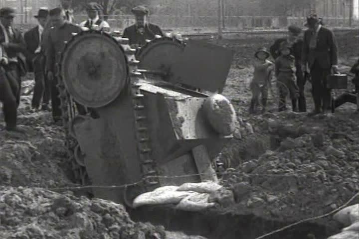 1910s - World War One tanks are tested in 1918.