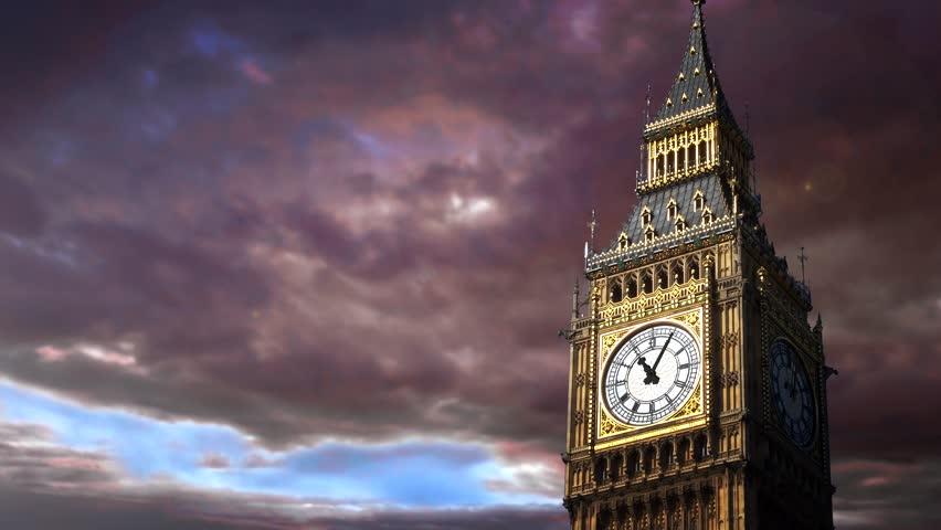 Big Ben. Time lapse