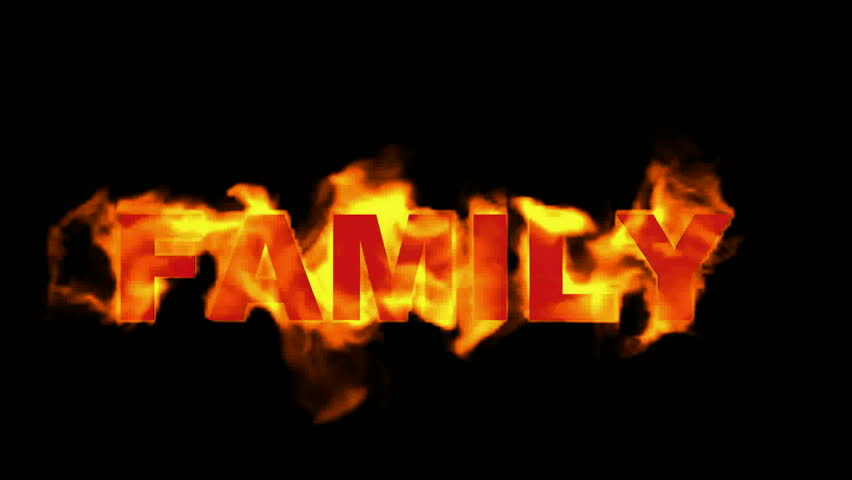 Fire Family Word,fire Text  Stock Footage Video (100% Royalty-free) 4135660  | Shutterstock