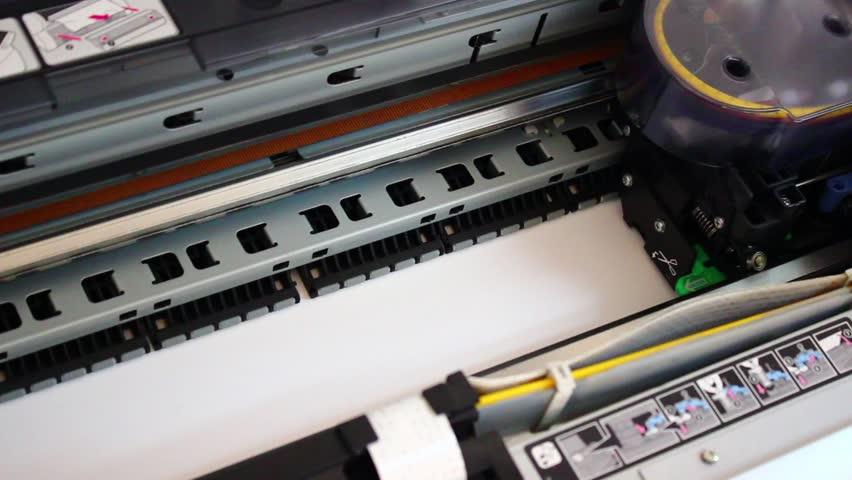 Wide Format Digital Printer, Plotter Stock Footage Video (100%  Royalty-free) 4136110 | Shutterstock
