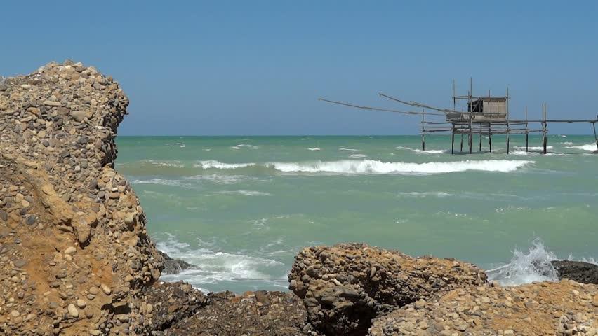 trabocchi on the italian coast