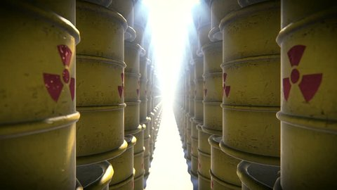 Barrels with radioactive waste