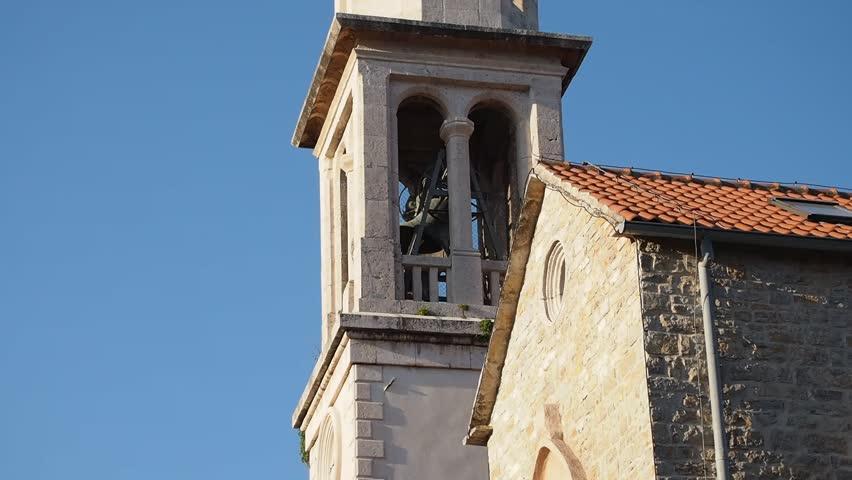 church bell ringing in Budva old city