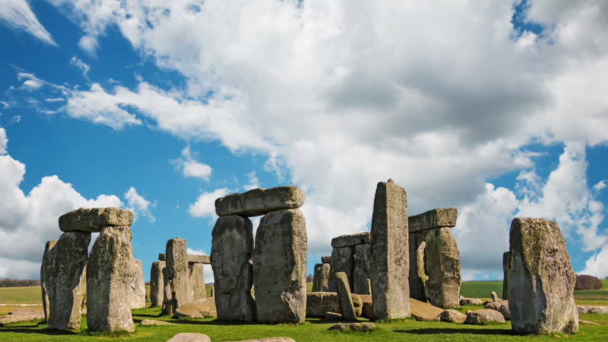 Stonehenge with cloud time lapse