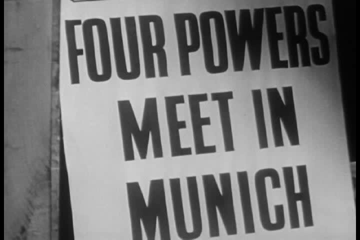 1940s - A narrator discusses the recent history of Czechoslovakia between World Wars 1 and 2   Shutterstock HD Video #4204720