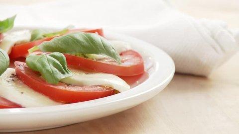 Insalata caprese (tomato, mozzarella and basil salad)