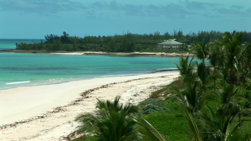 Secluded beach on the island of Eleuthera, part of the outer islands of the Bahamas.
