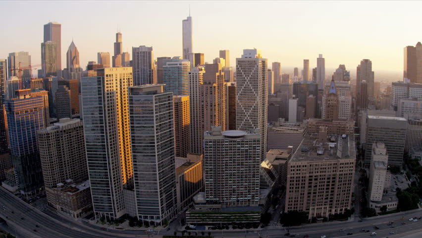 Aerial Sunset Sline City View Stock Footage Video 100 Royalty Free 4247120 Shutterstock