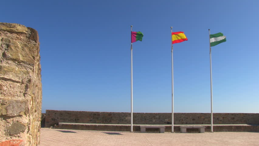 The Flags Of Malaga City Stock Footage Video 100 Royalty Free