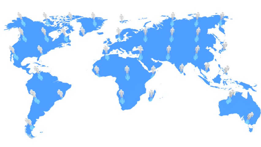 World map wraps to globe white background classic tv news style network hd stock video clip gumiabroncs Choice Image