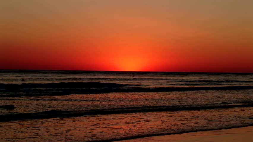 beautiful sunset on the west coast of florida hd stock footage clip