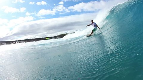 Surfer Does Turn Water Shot