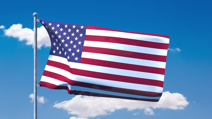e3f98af78c2 American Flag Stars and Stripes Stock Footage Video (100% Royalty ...