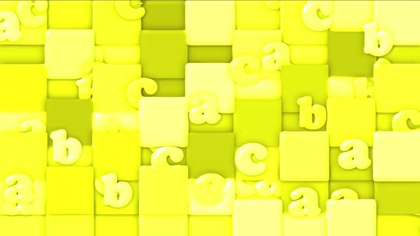 Yellow cartoon letter paper card on square mosaicschildren yellow cartoon letter paper card on square mosaicschildren spelling game stock footage video 4378730 shutterstock thecheapjerseys Image collections