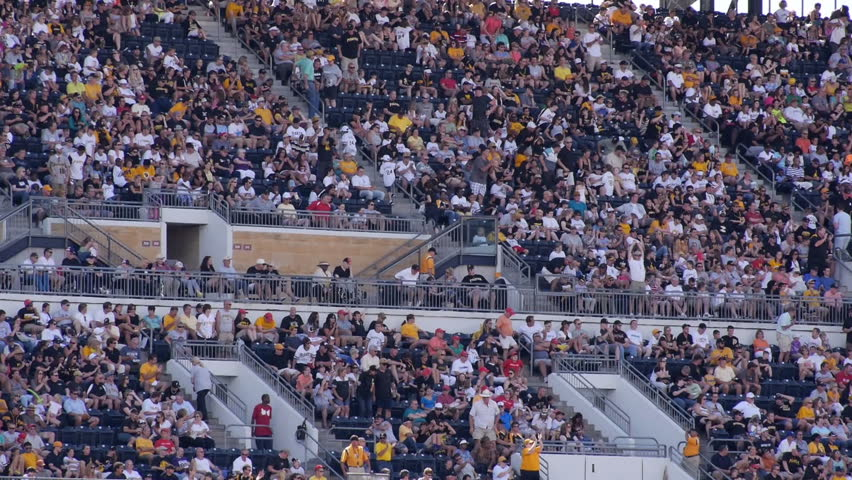PITTSBURGH, PA, Circa August, 2013 - Fans cheer at a Pittsburgh Pirates baseball