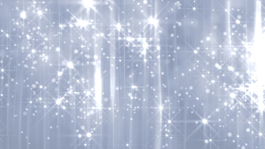 Abstract motion background in silver colors, shining lights, energy waves  and sparkling  particles, seamless looping.
