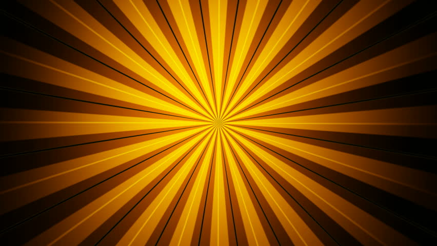 High Definition abstract CGI motion backgrounds ideal for editing, led backdrops or broadcasting featuring yellow and orange rays that meet in the center