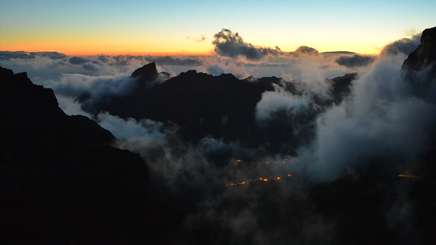 Time lapse with clouds at sunset over Masca village, Tenerife | Shutterstock HD Video #4410020