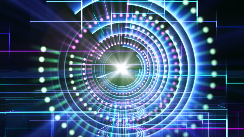 Abstract technological background. | Shutterstock HD Video #4414460