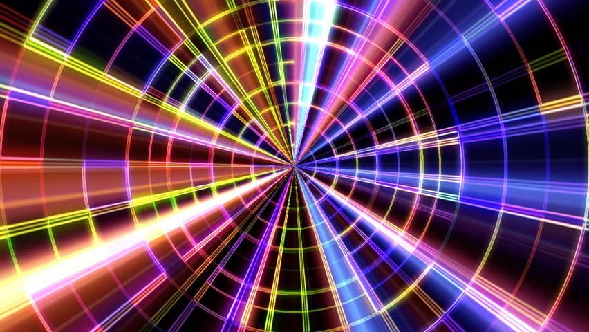 4k Disco Hypnotic Light Centerd Vj Loop Disco Effect: Loop Animation Of Abstract Psychedelic Laser Lights