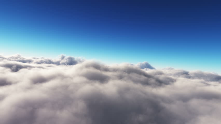 Flight above and through clouds