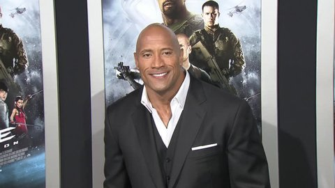 HOLLYWOOD - March 28, 2013: Dwayne Johnson/The Rock at the G.I. Joe: Retaliation Premiere in the TCL Chinese Theatre in Hollywood March 28, 2013