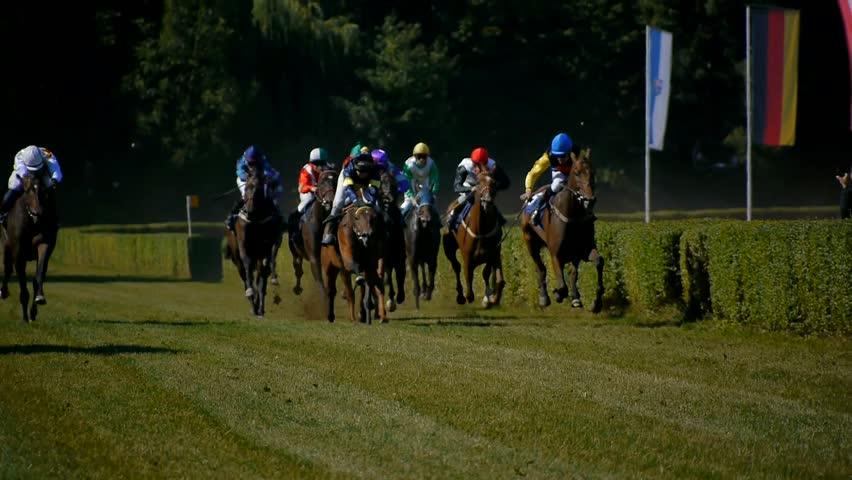 SAARBRÜCKEN - AUG 15, 2013: Horse racing in Germany. Part 14.