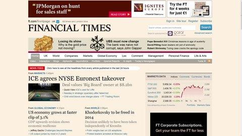 Screen displays popular financial and business websites (The Wall Street Journal, Hoovers, Market Watch, Barron's, CNN Money, Yahoo Finance, Nasdaq, MSN Money). Financial internet surfing timelapse