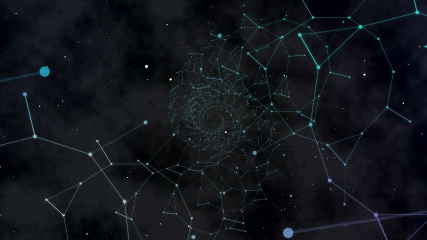 Spiral space elements background   Shutterstock HD Video #4491740