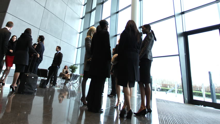 Time lapse of business people inside a modern office building | Shutterstock HD Video #4522706