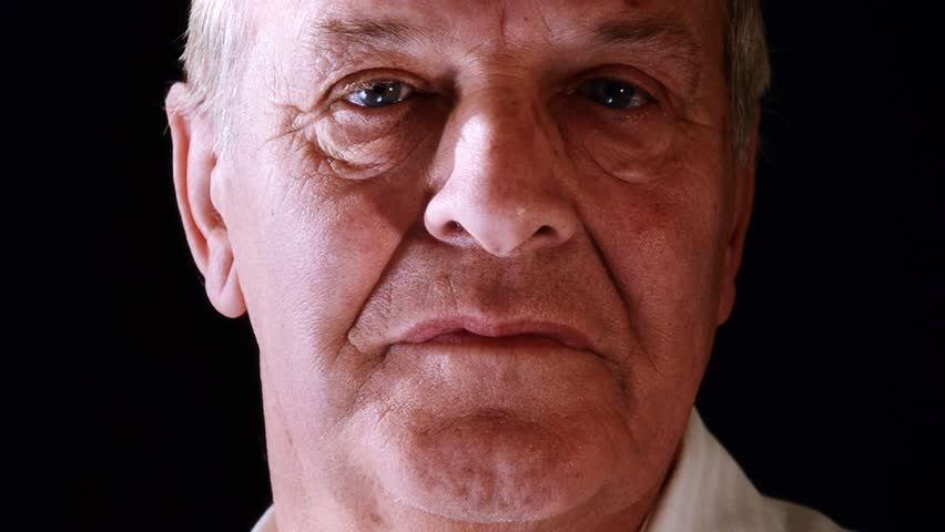 senior man, close-up