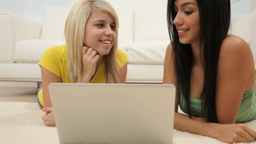 Teen Girls Looking At Laptop Stock Footage Video 100 Royalty-Free 4553450  Shutterstock-3690