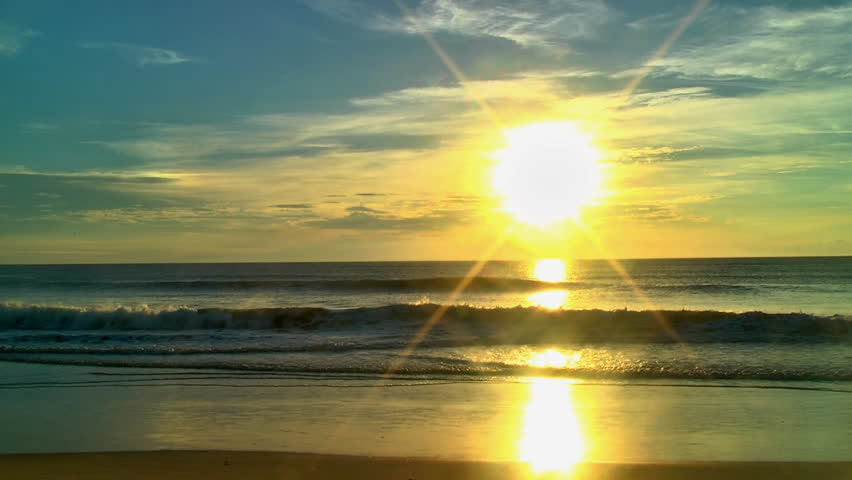 The sun rises over the Atlantic ocean along the east coast of the United States of America | Shutterstock HD Video #4579301